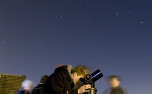 Stargazing on a clear night at RAL.