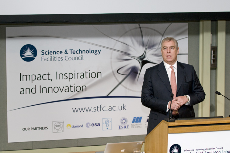 HRH Prince Andrew The Duke of York addresses the Conference