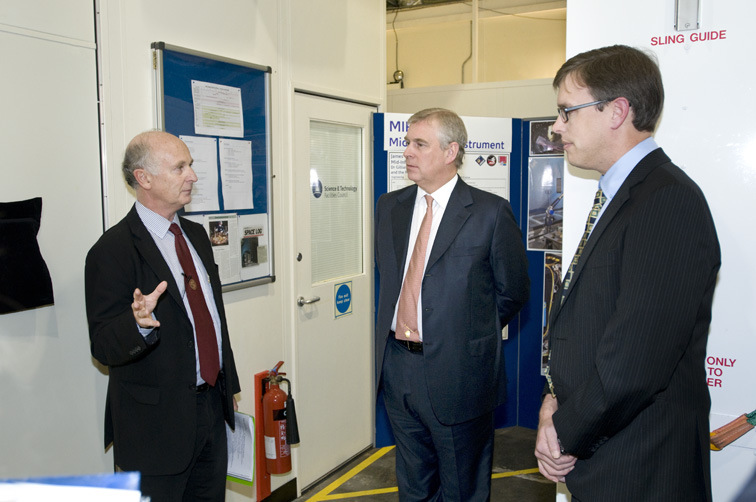 HRH Prince Andrew The Duke of York, opening the UK Centre for Calibration of Satellite Instrumentation