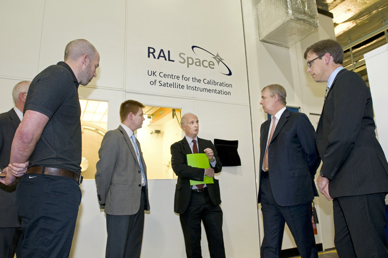 HRH Prince Andrew The Duke of York, opening the UK Centre for the Calibration of Satellite Instrumentation