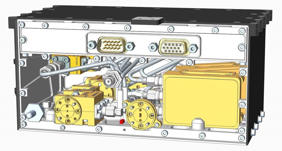 MWS 183.3GHz FERx CAD Model showing internal element of instrument)
