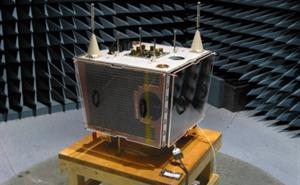​​BILSAT-1 in an acoustic test chamber