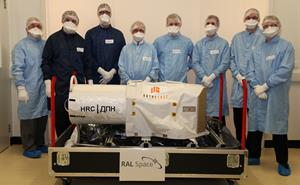 RAL Space Imaging Systems with the high resolution UrtheCast camera before it ships to Moscow for integration