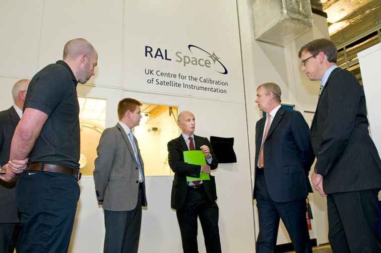 HRH Prince Andrew The Duke of York opening the UK Centre for Calibration of Satellite Instrumentation