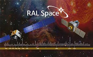 Timeline listing RAL Space mission involvement since 1965.