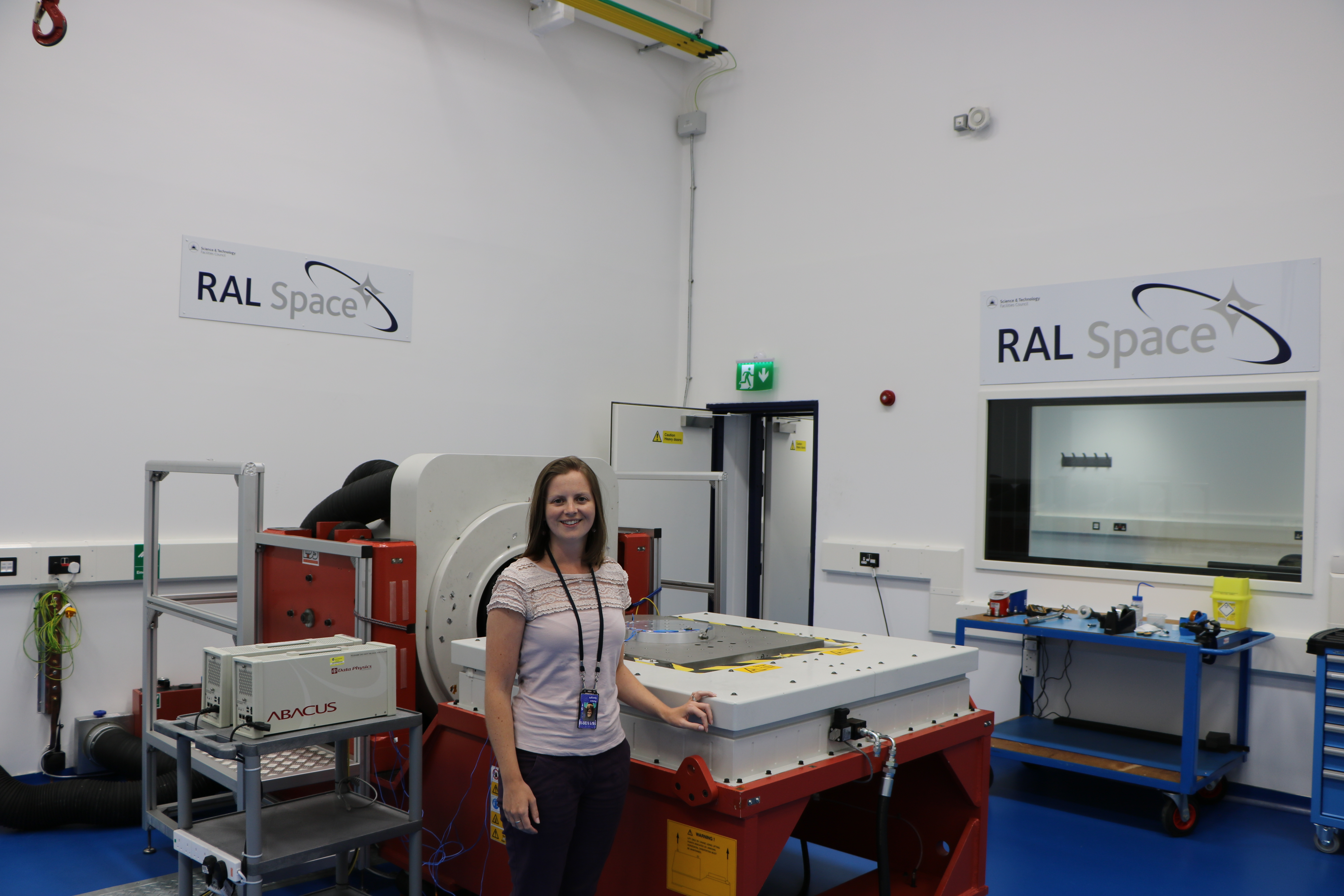 Roisin tests spacecraft instrumentation using the Vibration Test Facility (2).JPG