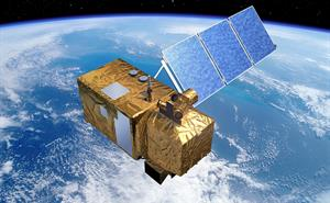 Artist's impression of Sentinel-2 orbiting Earth