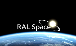 RAL Space logo rising above the Earth